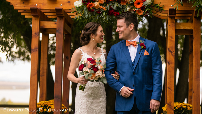 Real Wedding: Jordanna and Ian's Fall Tented Wedding At Rocking R Guest Ranch