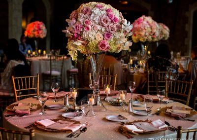 Creative Weddings Planning and Decor Banff Wedding Planner Fairmont Banff Springs Wedding Tall Blush Floral Centerpiece Two Mann Studios Slide D