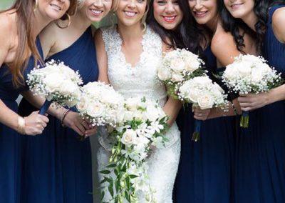 Banff Wedding Planner Creative Weddings Planning and Decor Rimrock Resort Wedding Bridesmaids in navy blue Eric Daigle Photography 7487