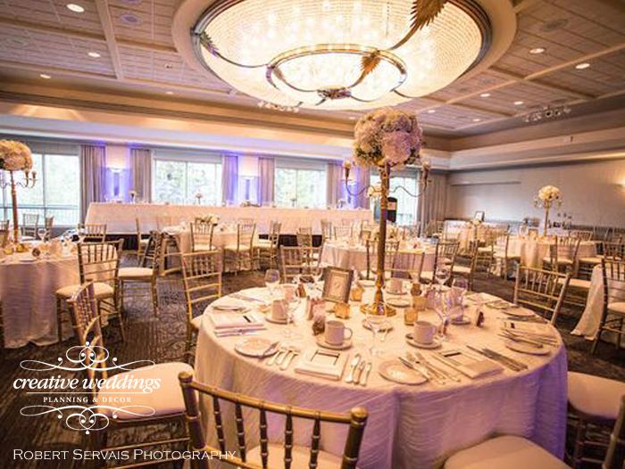 Banff Wedding Planner and Designer - Creative Weddings Planning & Decor; Rimrock Resort Wedding, Banff Real Wedding, Gold Candelabras, Elegant Reception, ivory and gold; Banff Wedding Planning