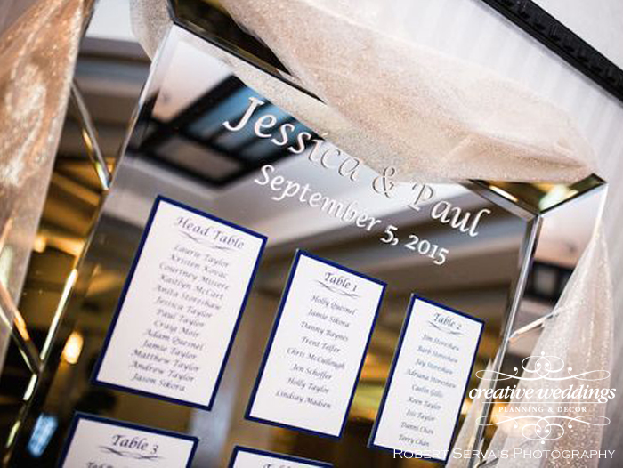 Banff Wedding Planner and Designer - Creative Weddings Planning & Decor; Rimrock Resort Wedding, Banff Real Wedding, Gold Candelabras, Elegant Reception, ivory and gold; Banff Wedding Planning; mirror seating chart
