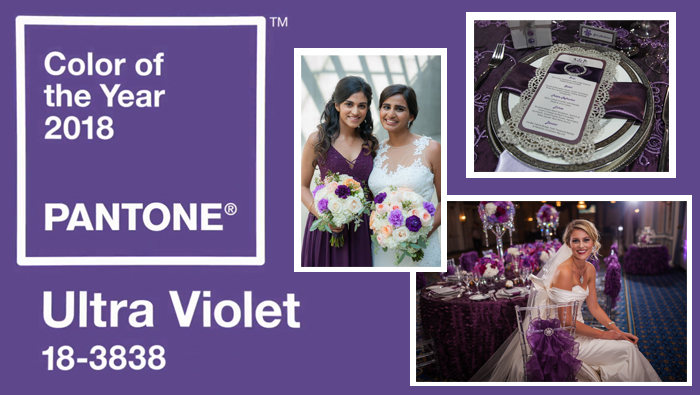 Pantone's Color Of The Year For 2018 – Ultra Violet – And How To Incorporate It Into Your Wedding Design