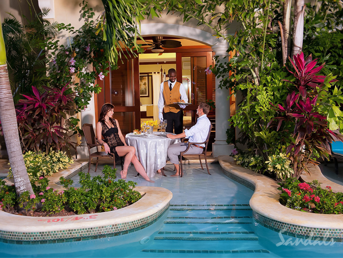 Sandals Resorts Honeymoon Sizzle Creative Weddings Planning and Decor Caribbean Honeymoon Tips Swim-up suite
