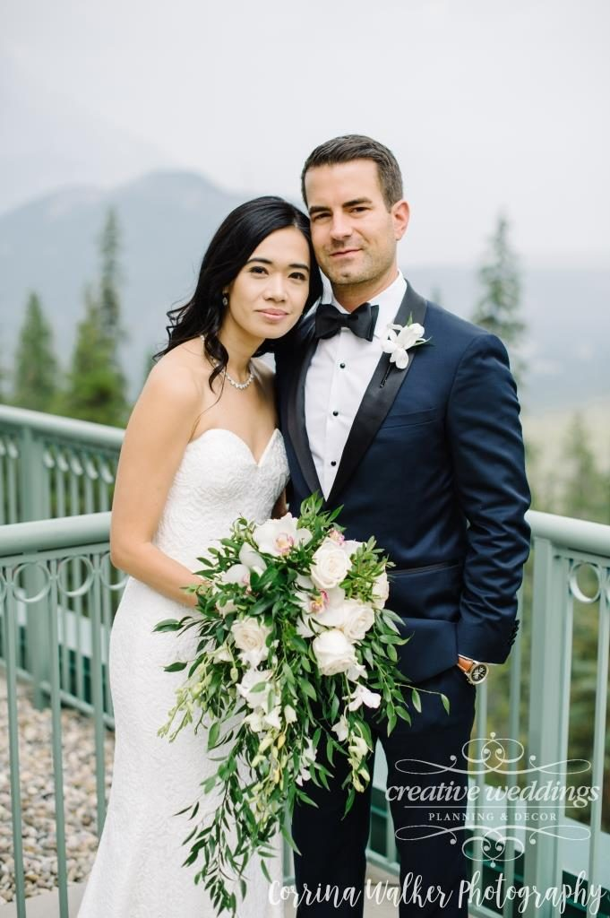 Banff Wedding Planner Creative Weddings Planning and Decor; Rimrock Resort Wedding; Bridal Bouquet Fiori Con Amore; Corrina Walker Photography