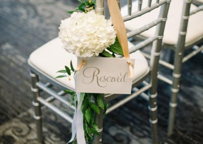 Banff Wedding Planner Banff Wedding Decor Creative Weddings Planning & Decor, Aisle Chair Decor, Chiavari Chairs, Banff Ceremony, Rimrock Resort Wedding, Fiori Con Amore, Corrina Walker Photography