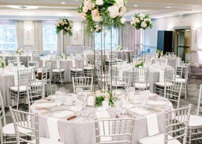 Banff Wedding Planner Banff Wedding Designer Creative Weddings Planning and Decor Centerpieces Fiori Con Amore Banff Wedding Decor Grey Corrina Walker Photography