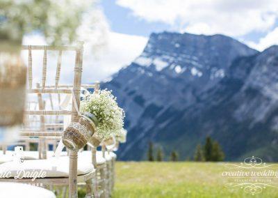 Banff Wedding Florist Buffalo Mountain Lodge Tunnel Mountain Creative Weddings Floral Designs 108-L