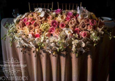 Sweetheart Table, luxury wedding flowers, head table, Creative Weddings Planning & Design, wedding flowers, Banff Wedding Florist, Calgary Wedding Florist, Wedding Florist in Banff, Wedding Florist in Calgary,