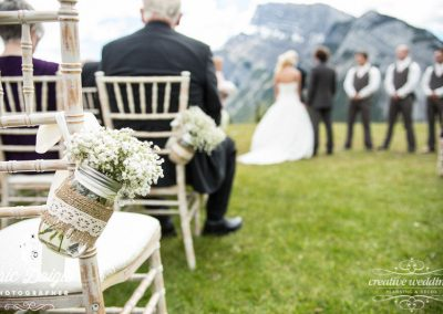 Banff Wedding Planner Designer Tunnel Mountain Buffalo Mountain Lodge babys breath Creative Weddings Planning Decor 278-L