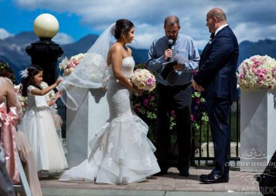Banff Wedding Planner Fairmont Banff Springs Wedding Creative Weddings Planning and Decor Outdoor Ceremony Banff Bride Two Mann Studios 460