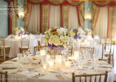 Banff wedding planning decor Banff Springs Wedding Cascade Ballroom white centerpiece 0963e