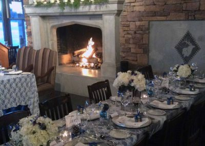 Calgary Banff Wedding Florist Planner The Lakehouse Wedding Winter Wonderland fireplace 6100