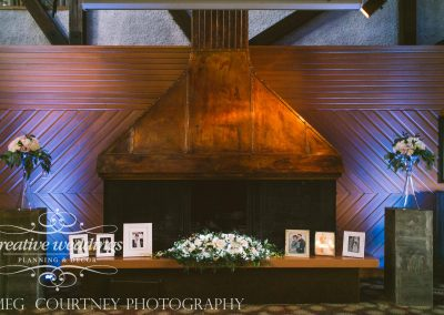 Calgary Wedding Planner Creative Weddings Planning and Decor Al Azhar fireplace ceremony Calgary Bride Meg Courtney Photography 0417