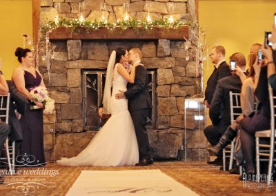 Canmore Wedding Planner Silvertip Wedding Creative Weddings Planning and Decor Ceremony Fireplace Decor 278