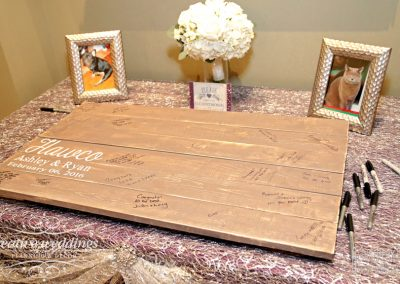 Canmore Wedding Planner Silvertip Wedding Creative Weddings Planning and Decor Signing Board Winter Wedding 543