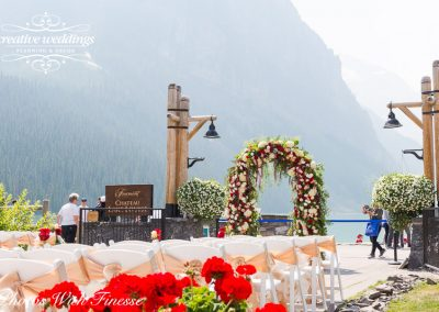 Lake Louise Wedding Planner Florist Chateau Lake Louise Wedding Creative Weddings Photos With Finesse 0038