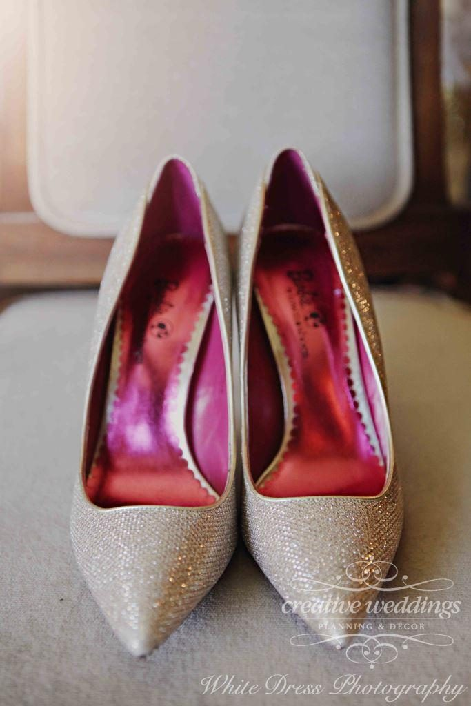 Calgary Wedding Planner, Fairmont Palliser Wedding, Blush Bridesmaids Dress, Creative Weddings Planning & Design, White Dress Photography, Calgary Wedding Planning, Calgary Real Wedding, blush and champagne gold, bridal shoes, sparkling shoes, Calgary Summer Wedding