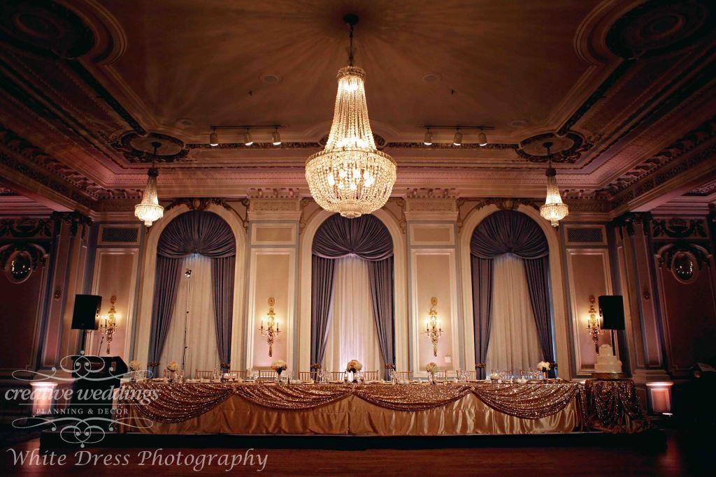 Fairmont Palliser Wedding, Calgary Wedding Planner, Creative Weddings Planning and Design, Blush and Champagne Gold Wedding, Calgary Wedding Ballroom, Crystal Ballroom at Fairmont Palliser Hotel, Classic Wedding, timeless wedding, elegant wedding, luxury wedding, Calgary real wedding, White Dress Photography