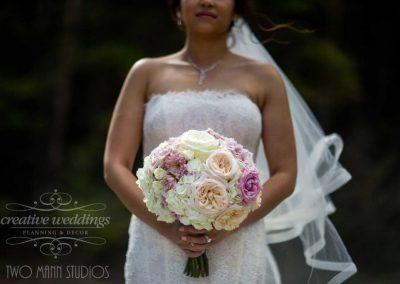 Banff Wedding Florist Banff Springs Wedding Creative Weddings Floral Designs Bridal Bouquet Two Mann Studios 604