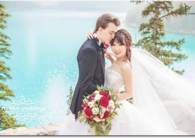 Lake Louise Wedding Planner and Florist Creative Weddings Plannign and Decor Chateau Lake Louise Wedding Fiori Con Amore DannyDong_2017002