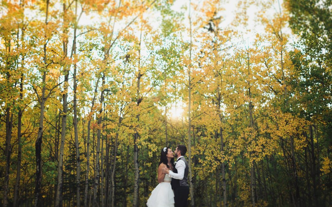 Real Calgary Wedding: Pam and Ryan's Fall Wedding At Azuridge