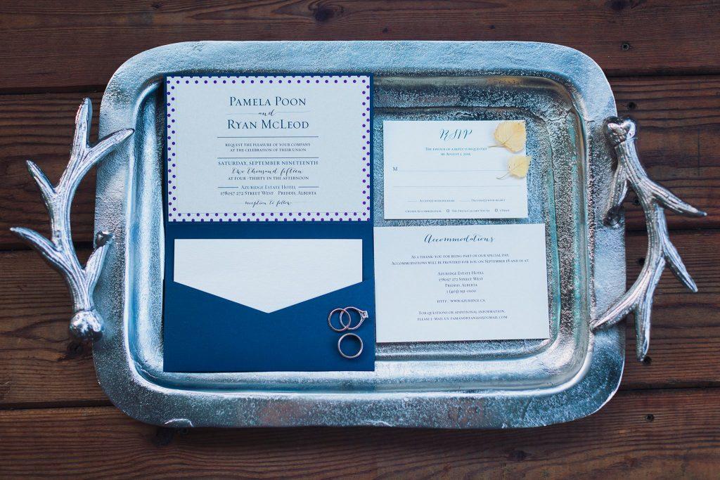 Real Calgary Wedding Azurdige Wedding Calgary Wedding Planner Creative Weddings Planning and Design Fall Wedding Autumn Wedding Social Page Wedding Invitation