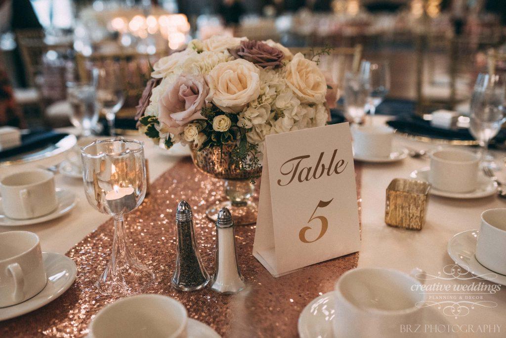 wedding centerpieces, gold pedestal vase, Lake Louise Wedding, Creative Weddings Floral Designs, Creative Weddings Planning & Design