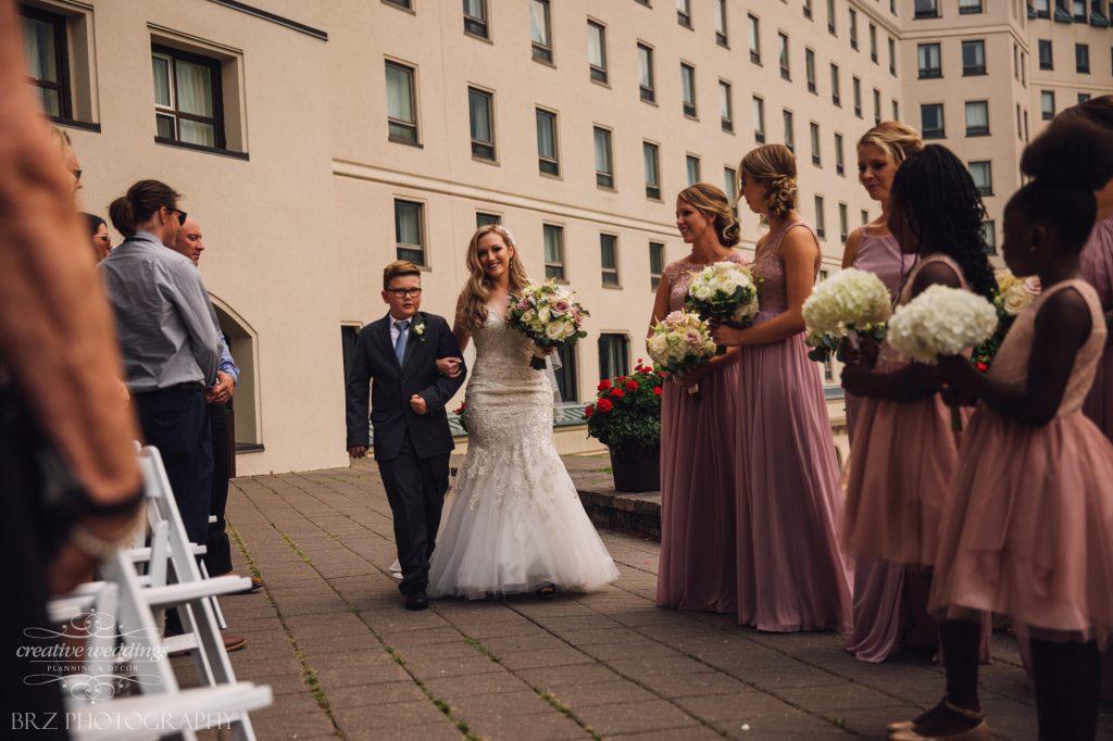 Wedding Ceremony, Outdoor Wedding Ceremony, Chateau Lake Louise Wedding Ceremony