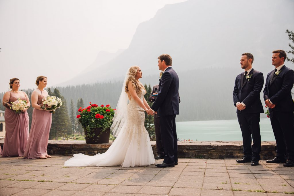 Wedding Ceremony, Outdoor Ceremony, Real Wedding, Chateau Lake Louise Wedding, Creative Weddings Planning & Design