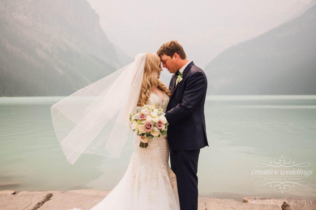 Wedding at Chateau Lake Louise, Newlyweds, Real Wedding, Mountain Wedding