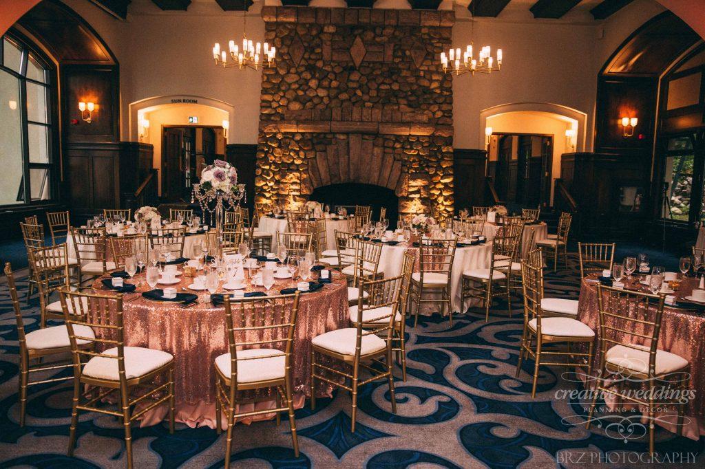 Lake Louise Wedding Reception, Creative Weddings Planning & Design, blush pink wedding decor, rosegold wedding decor, rosegold glitz