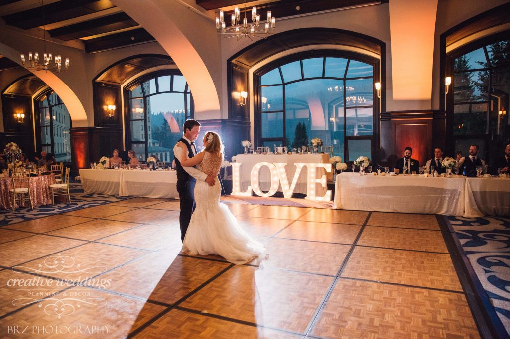 First Dance, Lake Louise Wedding, Wedding Reception, Creative Weddings Planning & Design