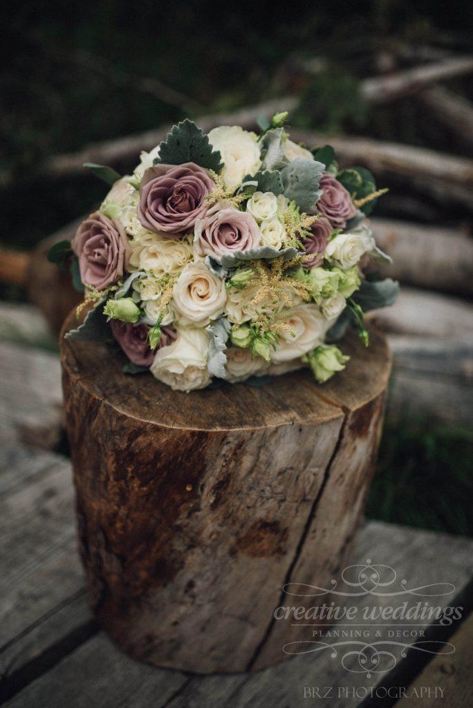 Bridal Bouquet, Creative Weddings Floral Designs, Real Wedding, Mountain Wedding