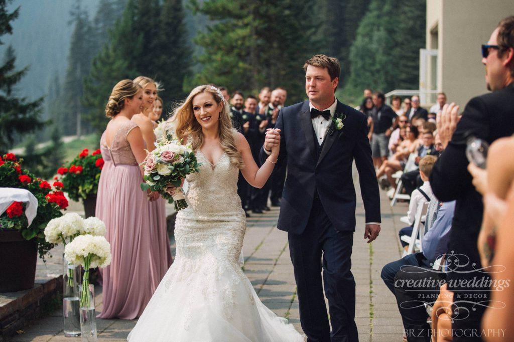Read Wedding, Recessional, Fairmont Chateau Lake Louise Wedding, Creative Weddings Planning & Design