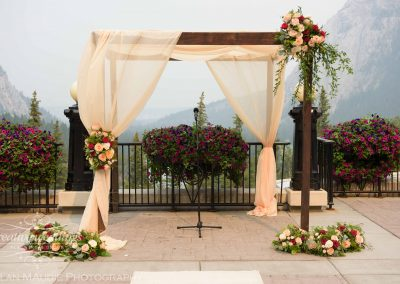 Banff Springs Wedding, Outdoor Ceremony, Ceremony Chuppah, Mountain Wedding, Creative Weddings Planning & Design, Banff Wedding Planner, Calgary Wedding Planner, Mountain Wedding